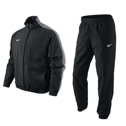 Nike Mens Signal Goal Woven Full Suit Tracksuit Black Grey Jacket & Bottoms